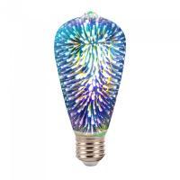 LED Крушка - 3W E27 Filament 3D ST64 3000K