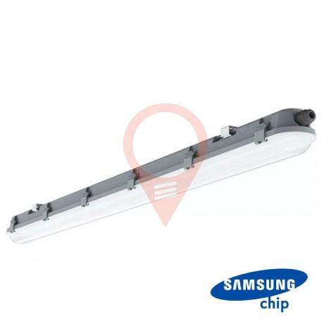 LED Влагозащитено Тяло M-Серия 1200мм 36W 6400K Мат Стоманен Клип 120LM/W