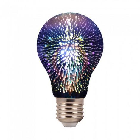 LED Крушка - 3W E27 Filament 3D A60 3000K