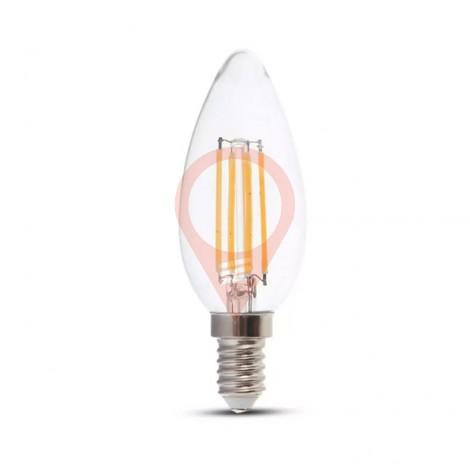LED Крушка - 6W Винтидж E14 Кендъл 3000К 130LM/W