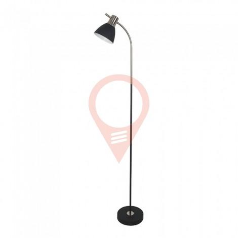 Наземна Лампа PIXI Черна + Хром Е27 Подвижна