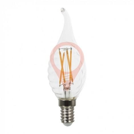 LED крушка - 4W Винтидж E14 Спирала свещ Топло бяла светлина Димираща