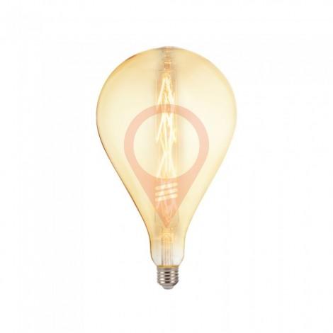 LED Крушка - 8W E27 G165 Amber 2200K