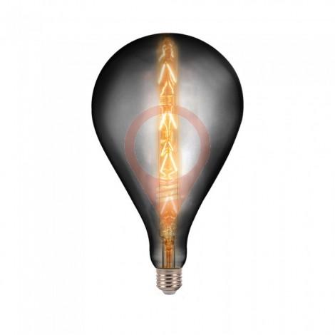 LED Крушка - 8W E27 G165 Сиво Опушена 2200K