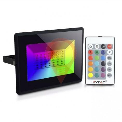 50W LED Прожектор RGB Дистанционно