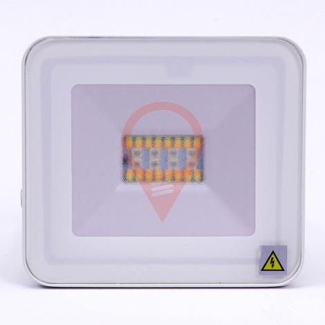 20W LED Брожектор Bluetooth Бяло Тяло RGB + W