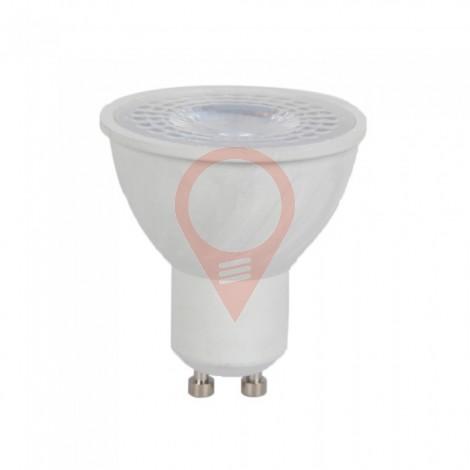 LED Крушка - 6W GU10 Пластик Лупа  40000K  CRI 95+