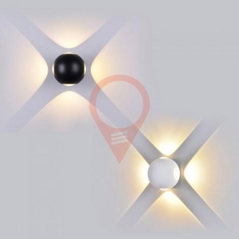 4W Стенна Лампа Бяло Тяло Кръг 3000К IP65