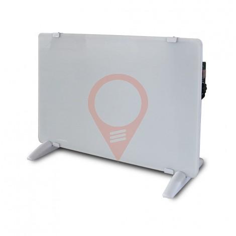 2000W Конвектор Стъкло Алуминиев Нагряващ Елемент Бяла IP24