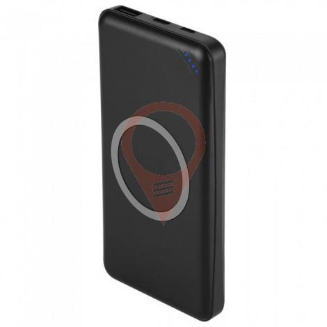 Външна Батерия 10000 mAh Безжично Зареждане 1 USB + Type C Черна