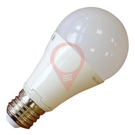 LED Крушка - 12W E27 A60 Термо Пластик Топло бяла светлина