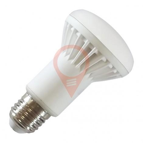 LED Крушка Алуминиево Тяло - 8W E27 R63 Epistar чип, неутрално бяла светлина