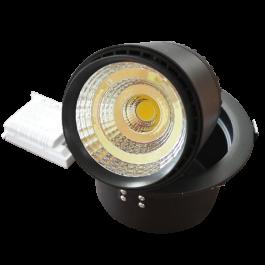 25W LED Луна Регулируема - черно тяло, бяла светлина