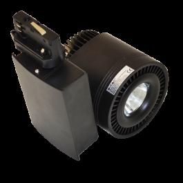 33W LED COB Прожектор Релсов монтаж черно тяло - Бяла светлина