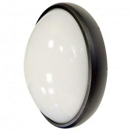 8W Плафониера Овал Черно Тяло Топло бяла светлина IP66 Водоустойчива
