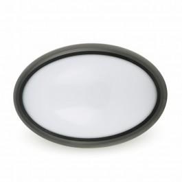 12W LED Овално Тяло Външен Монтаж Черно Бяла светлина  IP66 Водоустойчива