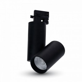 30W LED Прожектор Релсов ЧерноТяло Бяла светлина