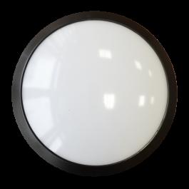 12W Плафониера Dome Черно тяло, 6000K