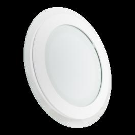 12W LED Мини Панел - стъкло, кръг, топло бяла светлина