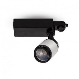 10W LED Прожектор Релсов Черно/Бяло Тяло Бяла светлина