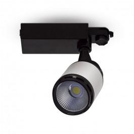 25W LED Прожектор Релсов Черно/Бяло Тяло Бяла светлина