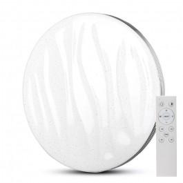 60W LED Плафон Дистанционно 3 в 1 Димиращ Кръг Вълни