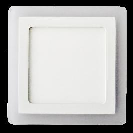 12W+3W LED Панел Външен монтаж - Квадрат, неутрално бяла светлина