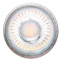 LED Крушка - 5W GU10 Стъклена с лупа - Топло бяла светлина