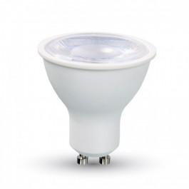 LED Крушка - 8W GU10 Бяла Пластик, Топло бяла