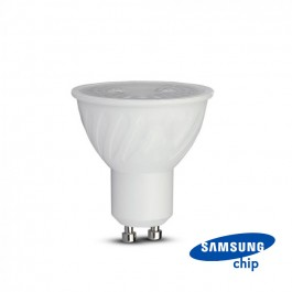 LED Spotlight SAMSUNG Chip GU10 6.5W Ripple Plastic 38°D 3000K