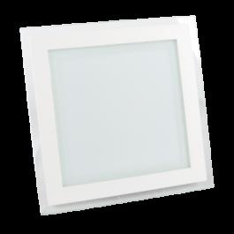 18W LED Мини Панел - стъкло, квадрат, бяла светлина