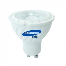 LED Крушка - SAMSUNG ЧИП 6.5W GU10 38° Димираща 6400K