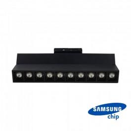 25W LED Линеен Релсов Монтах SAMSUNG Чип Черен 5700К