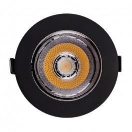 LED Луна SAMSUNG Чип - 10W Рефлоктор COB Черна 6400К