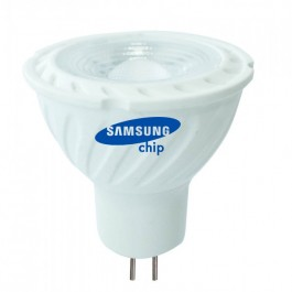 LED Крушка - SAMSUNG ЧИП 6.5W GU5.3 MR16 38° 6400K