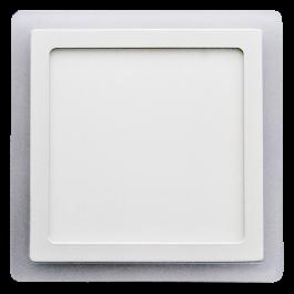 22W LED Панел Външен монтаж - Квадрат, неутрално бяла светлина