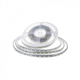 LED Лента SMD2835 - 120/1 24V IP65 6400K Двойно PCB 10м. Ролка