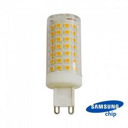 LED Крушка - 7W  G9  Пластик  6400K