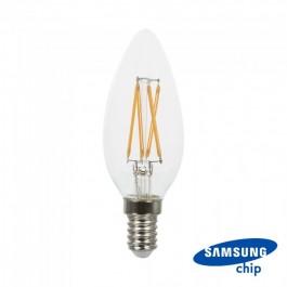 LED Крушка - SAMSUNG Чип 4W E14 Кендъл Топло бяла светлина