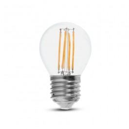 LED Крушка 6W Filament E27 G45 6400К