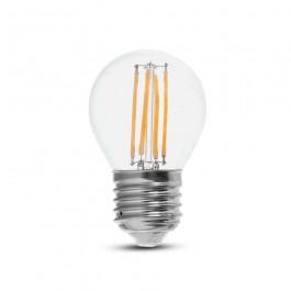 LED Крушка 6W Filament E27 G45 6400К 130lm/W