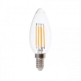 LED Крушка 6W Filament E14 Кендъл 6000К 130lm/W