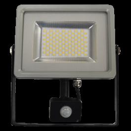 30W LED Прожектор Сензор Черно/ Сиво тяло SMD, Топло бяла светлина
