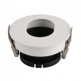 GU10 Отливка Кръг Бяло+Черно