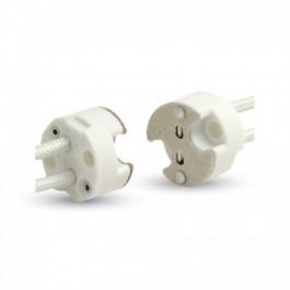 MR16 Керамична фасунга Силиконов кабел 5 броя