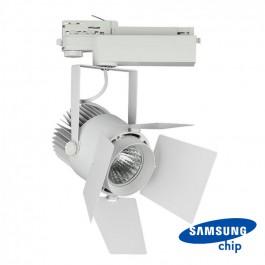 33W LED Прожектор Релсов Монтаж SAMSUNG CHIP Бял 5000K