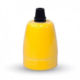 Фасунга Порцелан E27 Жълт