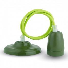 Пендел Порцеланова Фасунга E27 Зелен