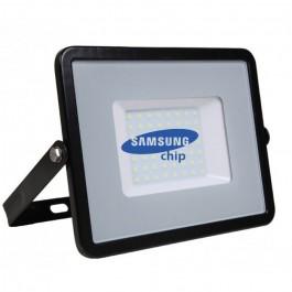 50W LED Прожектор SAMSUNG Чип Топло Бяла Светлина Черно Тяло