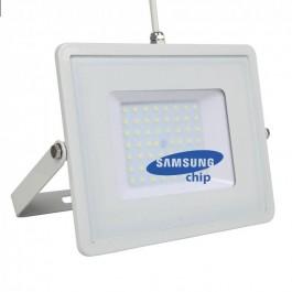 50W LED Прожектор SAMSUNG ЧИП SMD Бяло Тяло Бяла Светлина